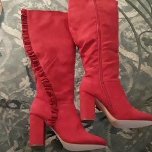 Beautiful Red Boots - Never Worn
